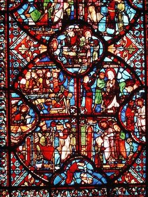 Window depicting scenes from the life of St. Thomas, from the apse