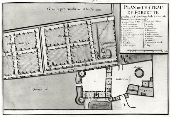 Fol.97 Plan of the Chateau de Forgette, near Saint-Savinien, from 'Recueil des Plans de Saintonge'