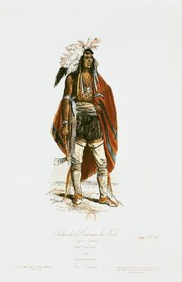North American Indian, from 'Modes et Costumes Historiques', engraved by Hippolyte Louis Pauquet