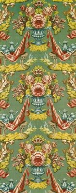 Textile with a repeating floral motif, Lyon workshop, c.1730