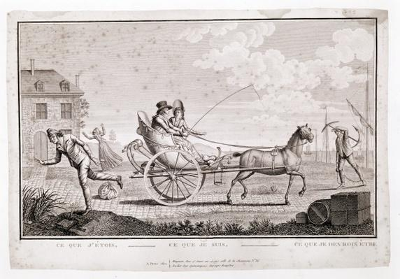 Caricature of the Nouveaux Riches, c.1795