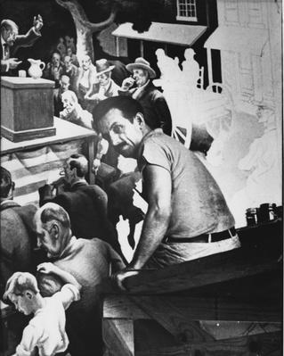 Thomas Hart Benton Working on a Mural | Ken Burns: Thomas Hart Benton