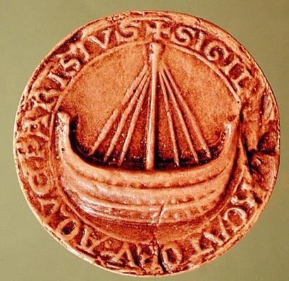 Seal of the Hanse of Water Merchants, early 13th century