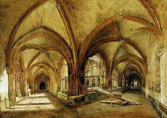 The Cloisters of St. Wandrille, c.1825-30