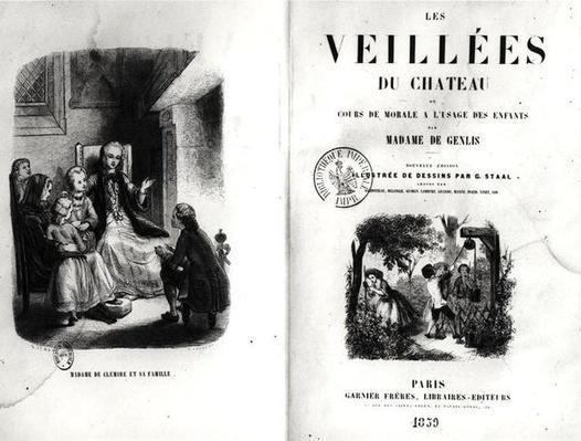 Frontispiece of 'Les Veilles du Chateau ou Cours de Morale a l'Usage des Enfants' by Madame de Genlis