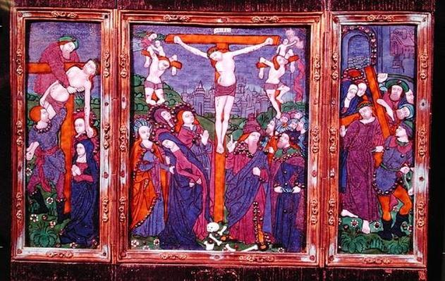 Triptych depicting the Crucifixion, Limousin