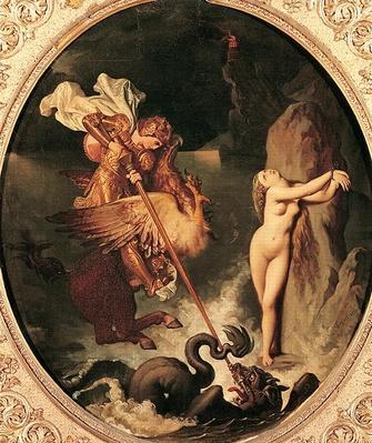 Ruggiero Rescuing Angelica, 1841