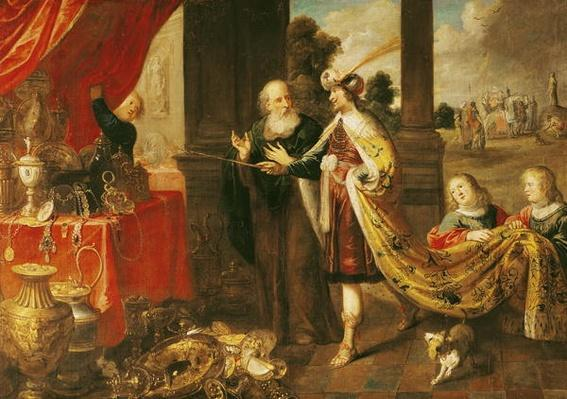Ahasuerus Showing his Treasure to Mordecai