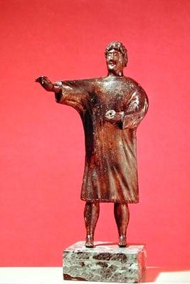 Figurine of a man wearing a sagum, from Neuvy-en-Sullias