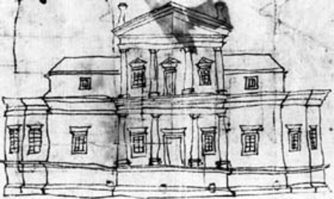 Jefferson's Sketch of Monticello   Ken Burns: Thomas Jefferson