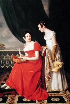 Madame Riesener and her Sister, Madame Longroy, 1802