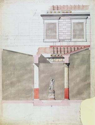 Design for the atrium of the Pompeiian palace of Prince Napoleon III