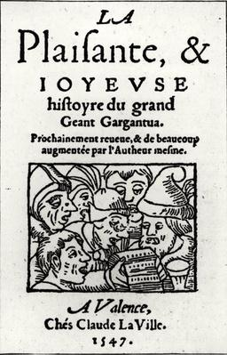 Titlepage of 'Gargantua' by Francois Rabelais