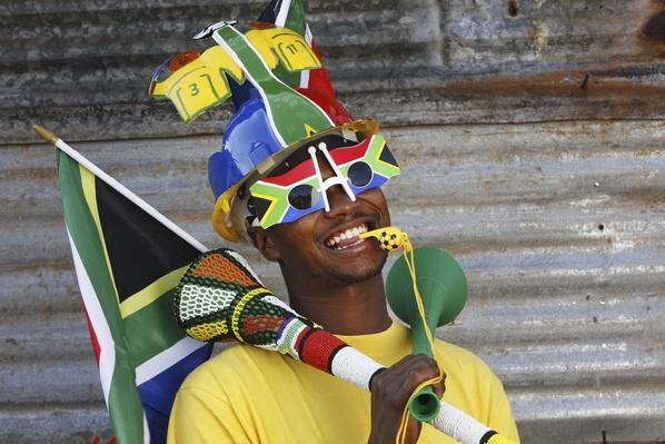Soccer fan with Vuvuzela and Makaraba | Musical Instruments