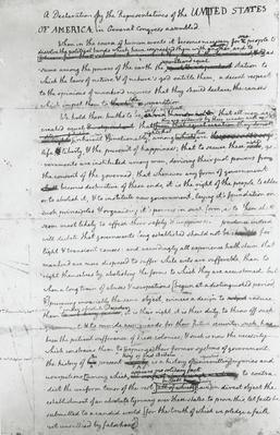 Jefferson's Rough Draft of the Declaration of Independence | Ken Burns: Thomas Jefferson