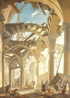 Construction of a Wheat Market, 1765