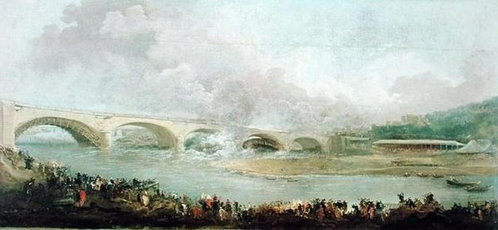 Unveiling of the Pont de Neuilly, 1772