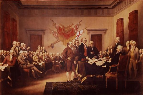 """Declaration of Independence in Congress, Independence Hall, Philadelphia, July 4, 1776"" 
