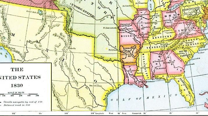 Map Of Us In 1830 Map of North America 1830   PBS LearningMedia