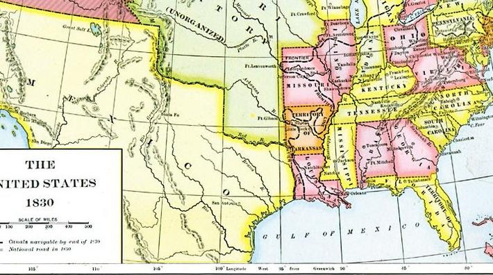 Map Of North America Social Studies Document PBS - Map of us territories in 1830