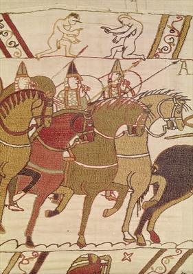 Detail of the knights going to attack Harold