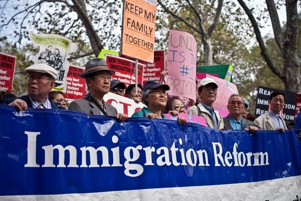 Thousands March In National Day Of Immigrant Dignity And Respect | U.S. Immigration | 1840's to present | U.S. History