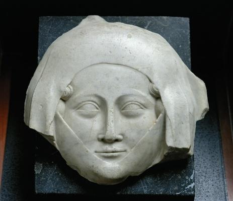 Head of an effigy of a woman