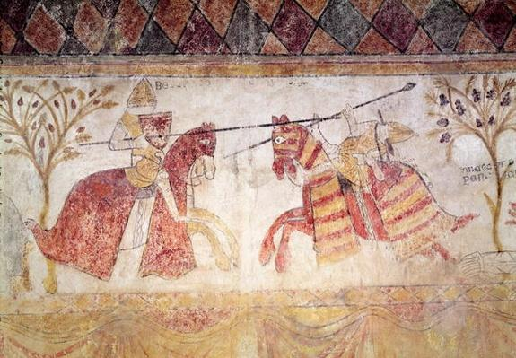 Combat between an Angevin King and Manfred, King of Sicily