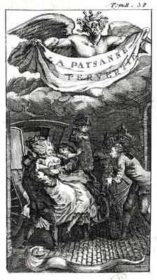 Illustration from 'La Paysanne Pervertie', by Nicolas Restif de la Bretonne