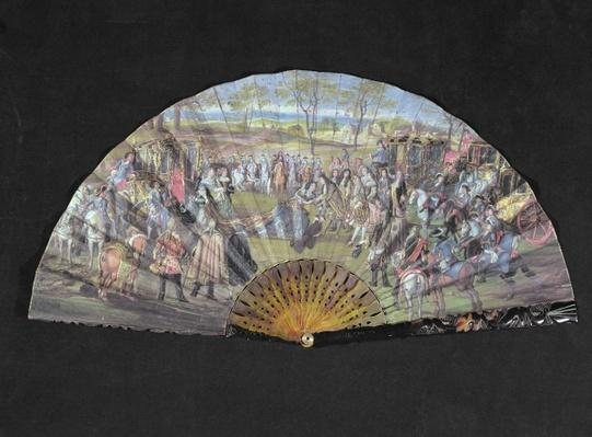 Fan depicting the marriage of Louis of France