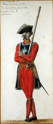 Musketeer from the time of Louis XV
