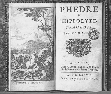 Titlepage of 'Phedre' by Jean Racine