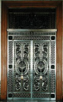 Decorative gates of the Galerie d'Apollon in the museum, c.1650