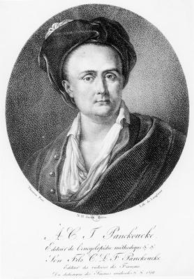 Medallion portrait of Andre Charles Joseph Panckoucke