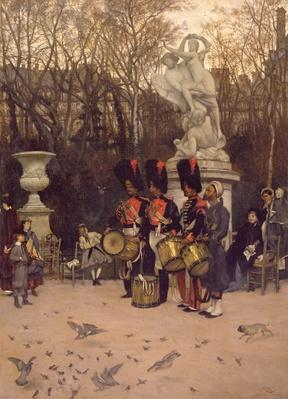 Beating the Retreat in the Tuileries Gardens, 1867