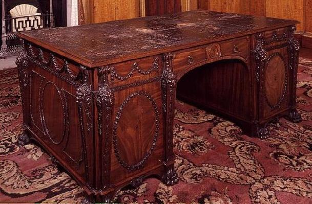 Library table supplied by Thomas Chippendale, 1767