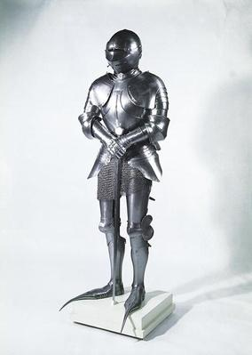 Suit of armour with poulaines, c.1480