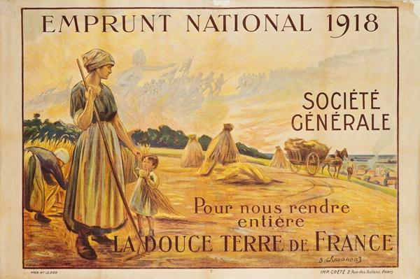 Poster for the Loan for National Defence from the Societe Generale, 1918