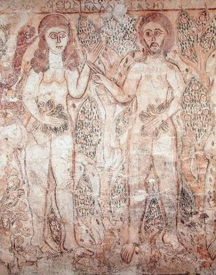 Adam and Eve, from Fayum