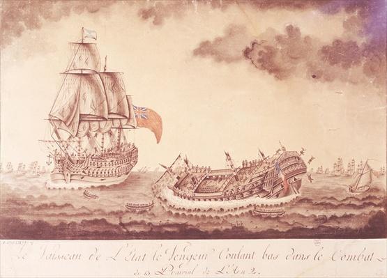 'Le Vengeur du Peuple' Sinking at the Battle of Ouessant, 1st June 1794