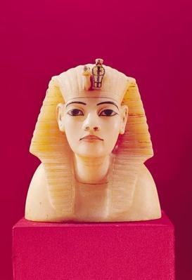 Stopper from one of the canopic urns, from the tomb of Tutankhamun