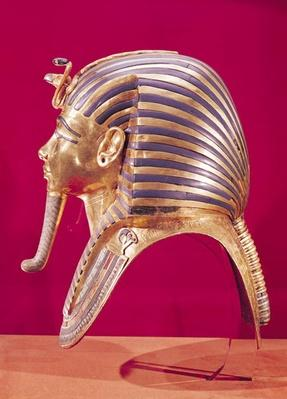 The gold mask, from the Treasure of Tutankhamun
