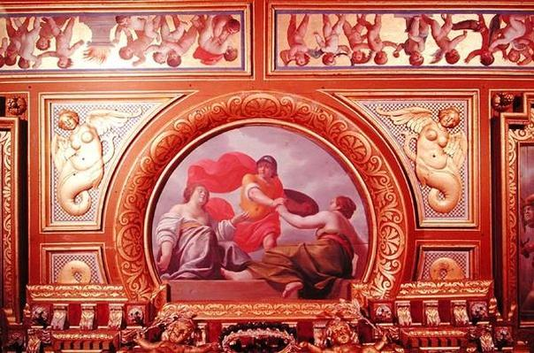 Detail of the ceiling depicting a scene from the story of Perseus, in the King's Bedchamber, c.1634