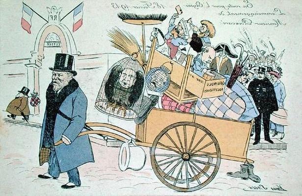 Caricature of Raymond Poincare