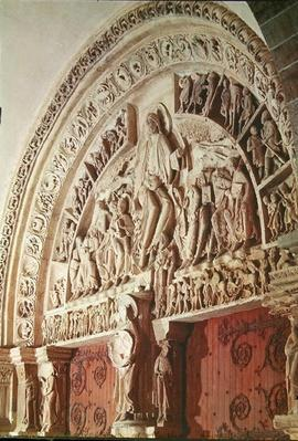 Pentecost, from the tympanum of the central portal, c.1120