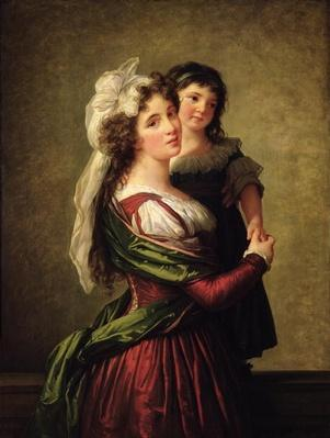Madame Rousseau and her Daughter, 1789