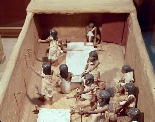 Funerary model of a textile workshop, from the Tomb of Meketre, Valley of the Nobles, Middle Kingdom, c.2000 BC