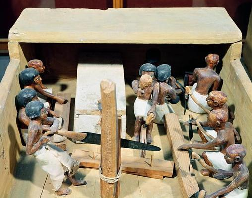Funerary model of a carpentry workshop, from the Tomb of Meketre, Valley of the Nobles, Middle Kingdom, c.2000 BC