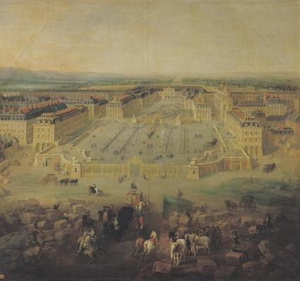 The Chateau de Versailles and the Place d'Armes, 1722