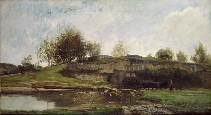 The Lock at Optevoz, 1855